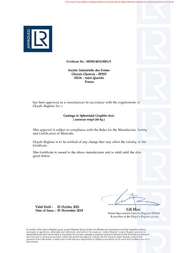 Certification Lloyds Register