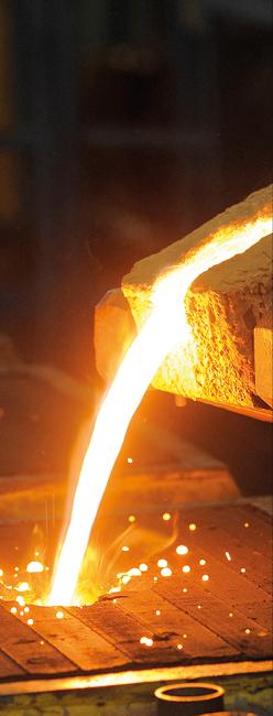 fabrication de petites et moyennes séries de pièces moulées en fonte à graphite sphéroïdal (ENGJS), à graphite lamellaire (ENGJL) ou en fontes alliées