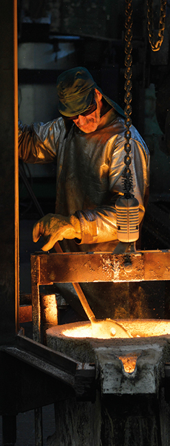 Process - foundry, assembly, machining, treatments, control quality